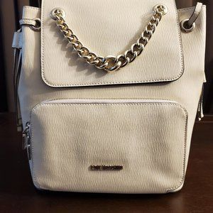 NWT Love Moschino Leather Backpack--Ivory